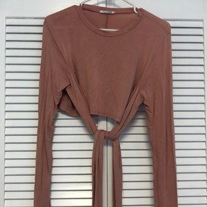 Fashion Nova crop top long blouse